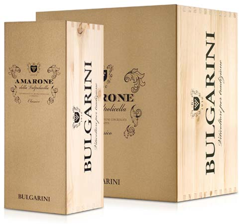 Packaging Amarone Valpolicella DOCG classico Bulgarini
